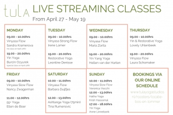 Online yoga - live stream rooster